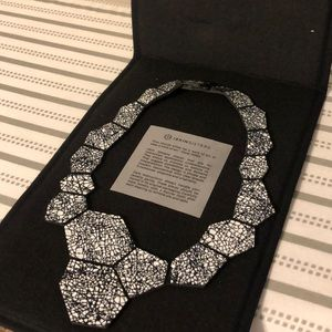 ISkin Sisters geometric leather necklace NIB